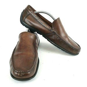 Ecco Mens Size EUR 45 Loafers Shoes Brown Slip On